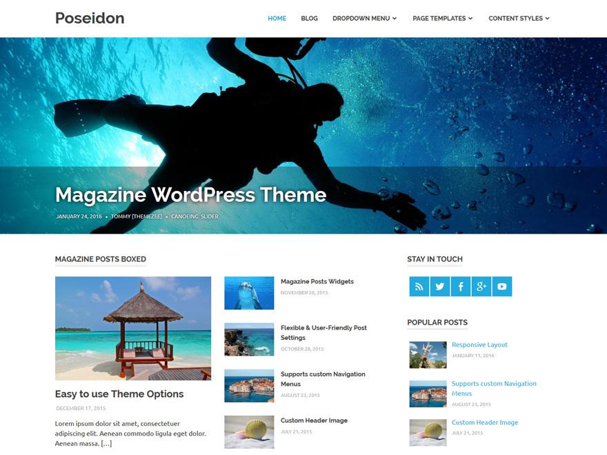Poseidon Child Theme best WordPress magazine theme