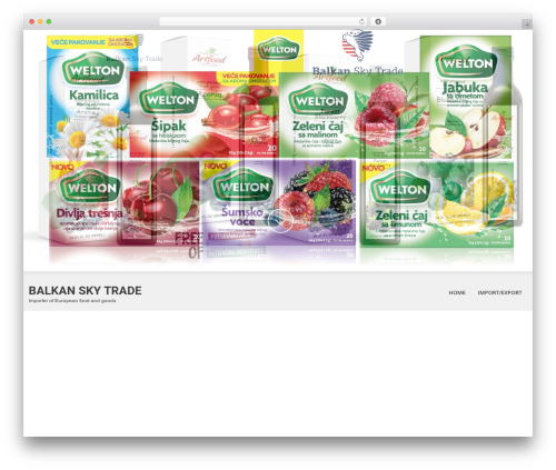 SKT White WordPress theme - balkanskytrade.com