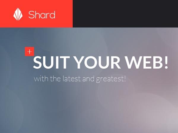 WordPress template Shard