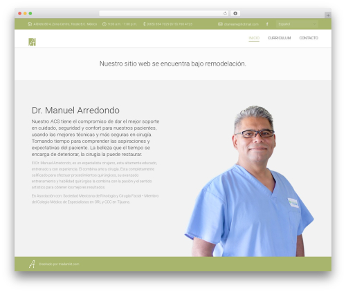 Armada best WordPress theme - drmanuelarredondo.com