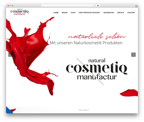 Bazaar WordPress page template - cosmetiqmanufactur.com