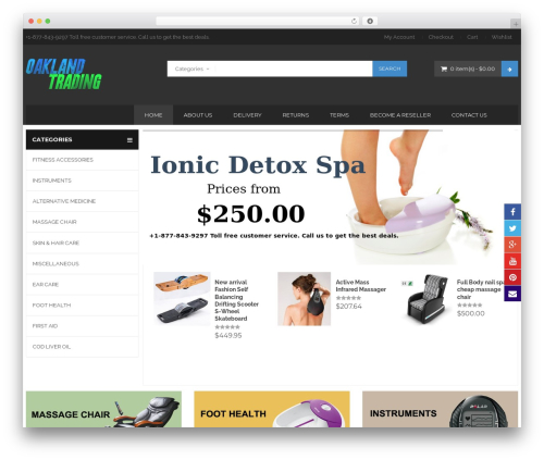 BigBoom best WordPress template - oaklandtrading.com