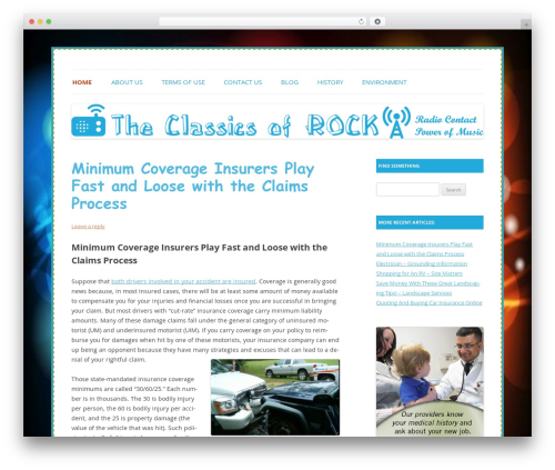 Colorful Delight best WordPress theme - theclassicsofrock.com