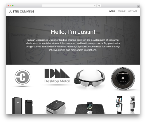 Oren WP theme - justincumming.com