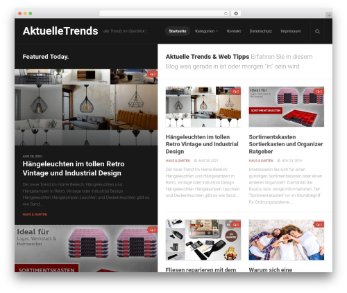 Split template WordPress - aktuelletrends.com