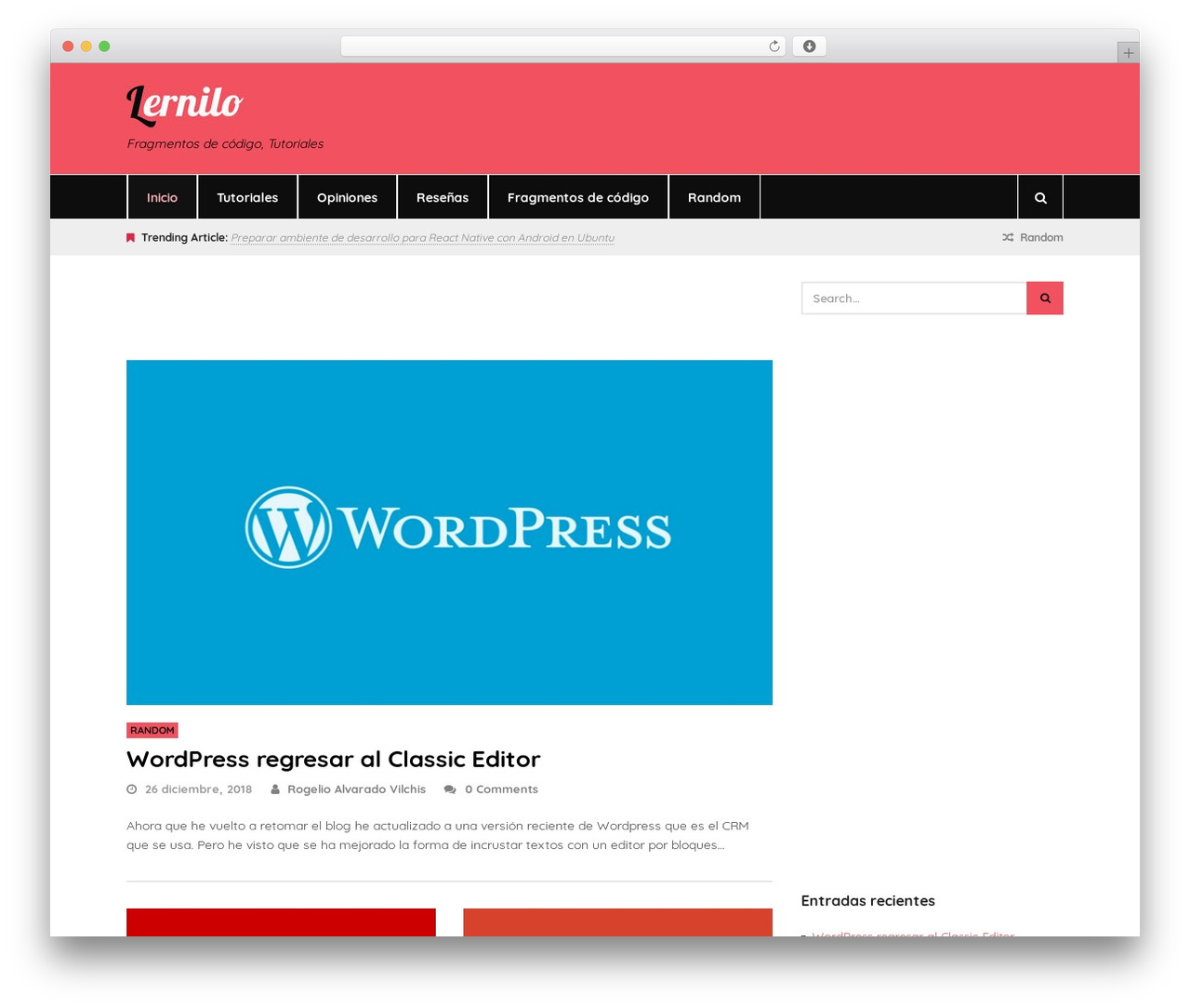 Theme WordPress Status - lernilo.com