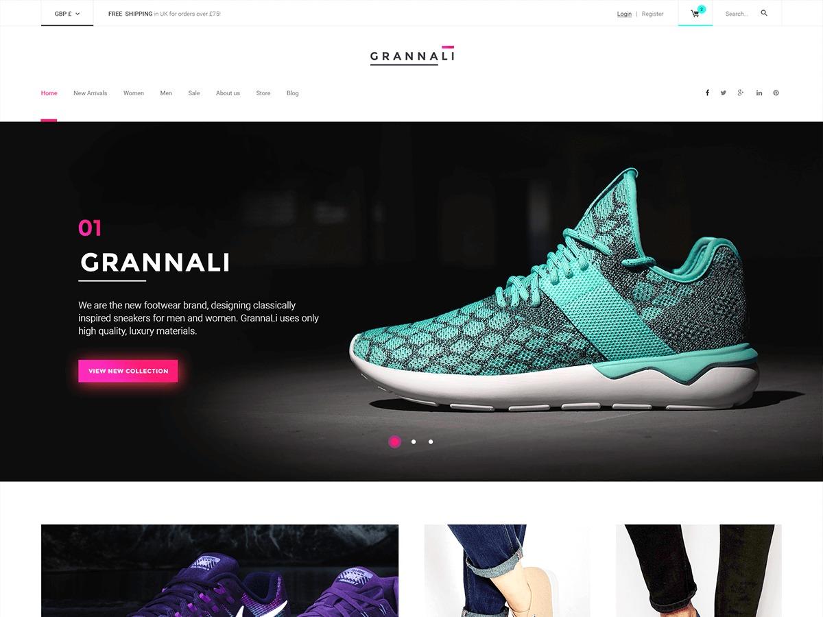 WordPress template Grannali