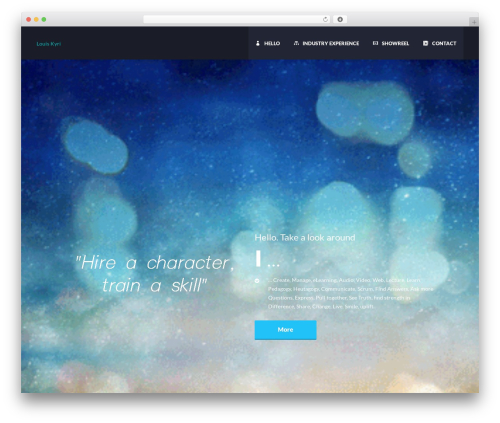 WordPress theme TheFox - louiskyri.com