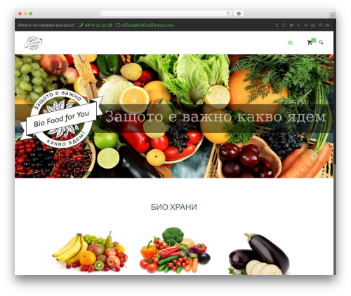 WordPress website template Betheme - biofoodforyou.com