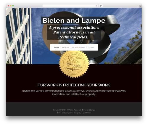 Organic Profile WordPress theme - bielenlampe.com