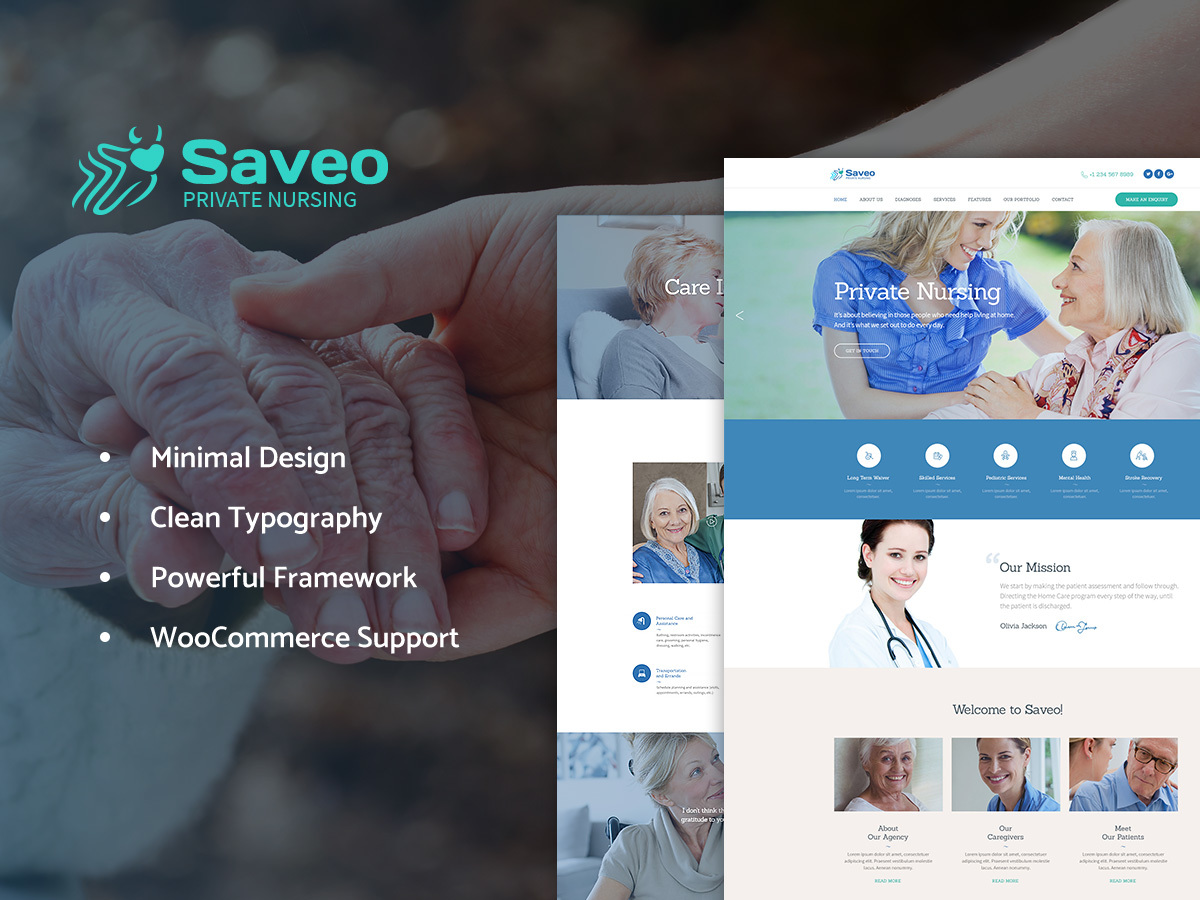 Saveo WordPress blog template