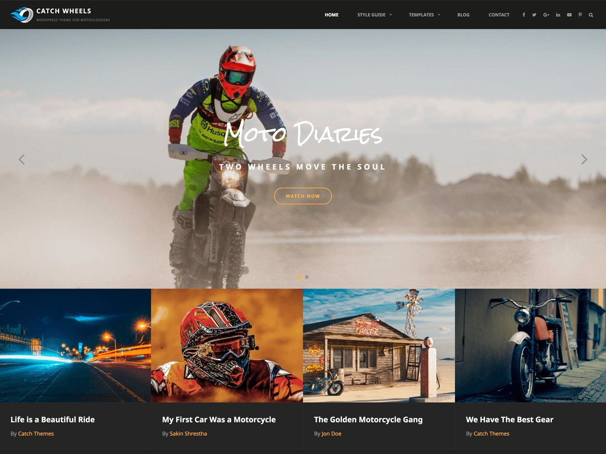 Catch Wheels best portfolio WordPress theme