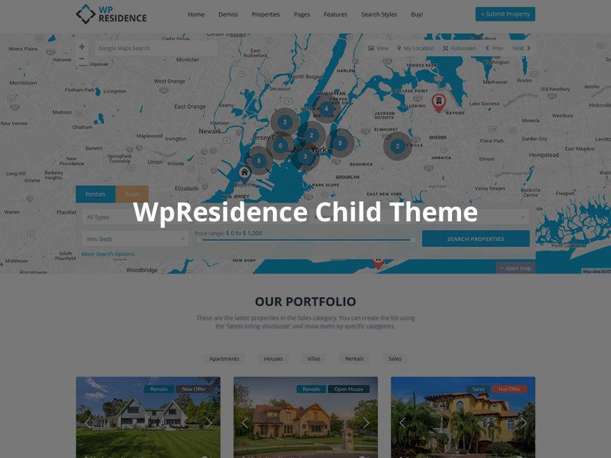 wpresidence child theme best WordPress template