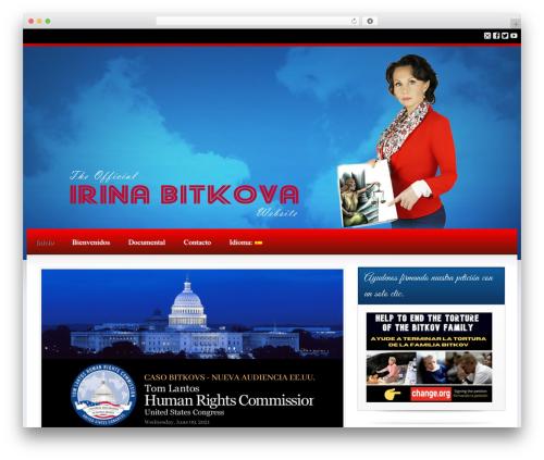 Best WordPress theme Candidate - irinabitkova.com