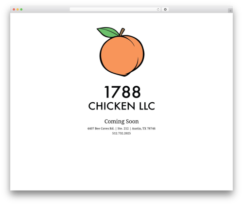 Divi WordPress theme - 1788chicken.com
