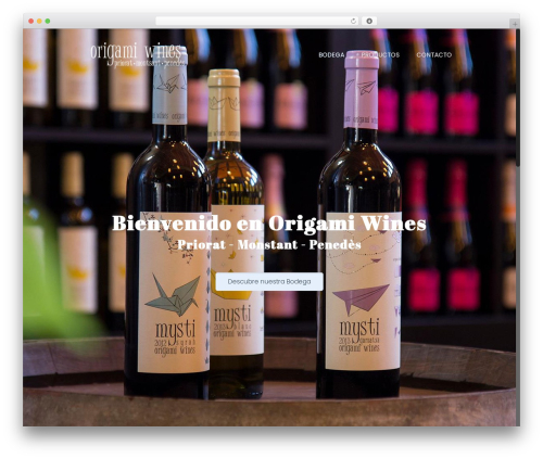 Theme WordPress Betheme - origamiwines.com