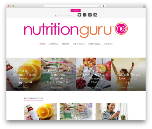 Dahlia Magazine best WordPress magazine theme - nutritionguru.com