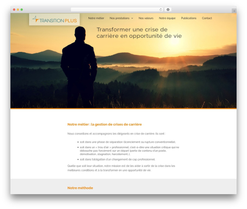 TheFox WordPress theme - transitionplus.com
