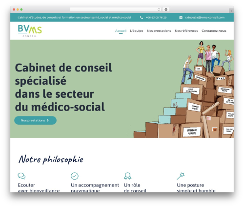 Theme WordPress (VamTam) Consulting - bvms-conseil.com