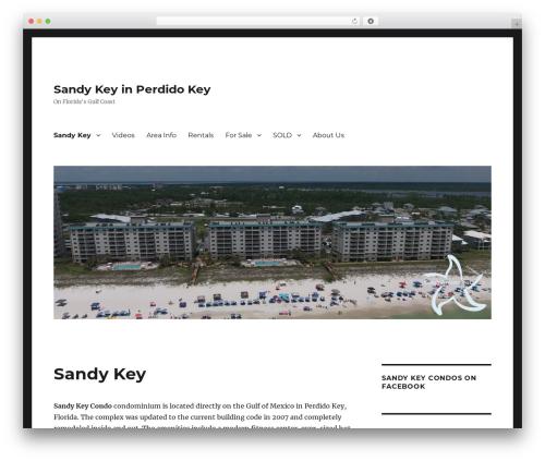 Twenty Sixteen WP theme - sandykeycondosperdidokeyfl.com
