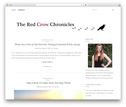 Activello free WP theme - theredcrowchronicles.com