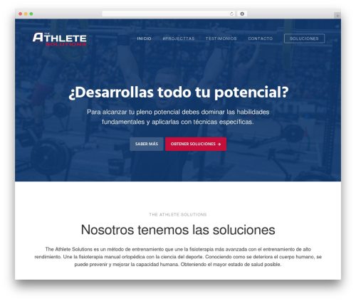 Genesis WordPress template - theathletesolutions.com