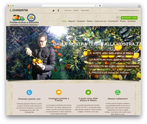 Organic Web Shop WP template - firenzearanceadomicilio.com