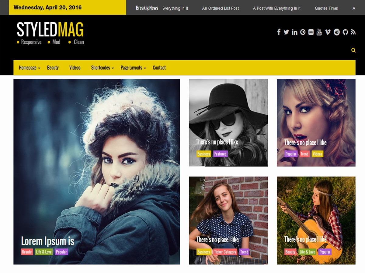 Styled Mag WordPress ecommerce template