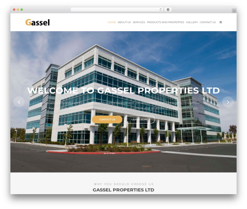 Tower business WordPress theme - gasselcompany.com