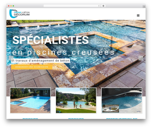WordPress template SwimmingPool - betondecorum.com