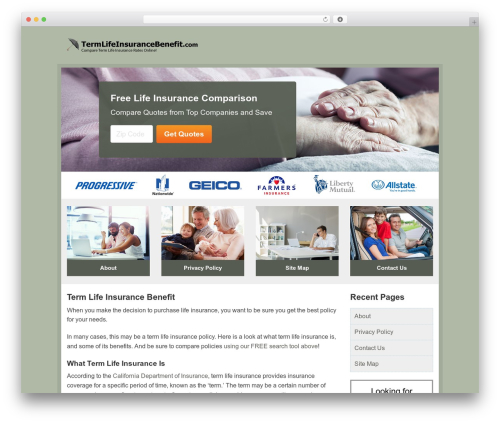 Aperture template WordPress free - termlifeinsurancebenefit.com
