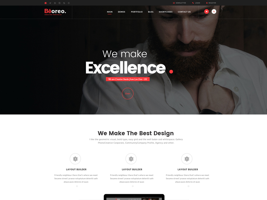 Beoreo theme WordPress