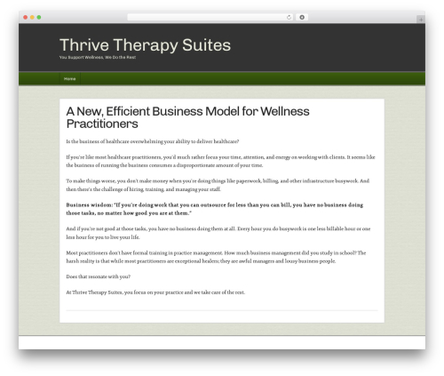 Builder business WordPress theme - thrivetherapysuites.com