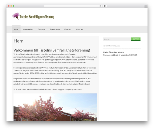 Coller best free WordPress theme - tisteln.se