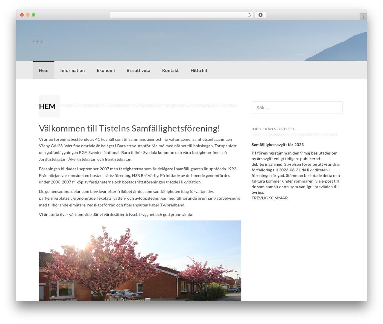 Coller best free WordPress theme - tisteln.se