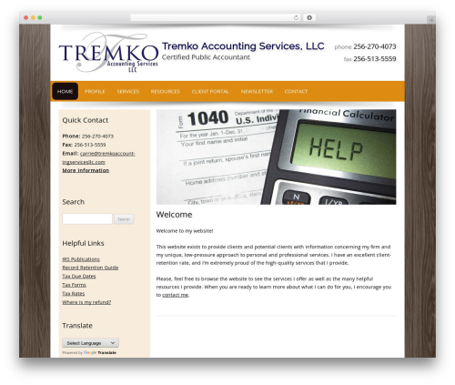 Customized WP template - tremkoaccountingservicesllc.com
