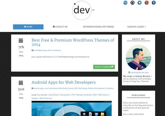 devdmbootstrap3-cleanblog WordPress blog theme