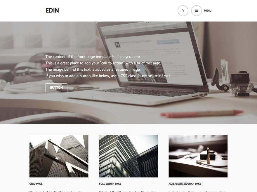 Edin Child theme WordPress