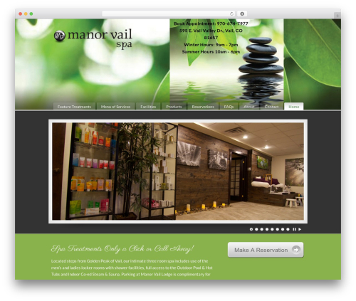 pureVISION best WordPress theme - themanorvailspa.com