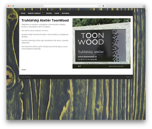 Quik Wordpress Theme WP theme - toonwood.cz