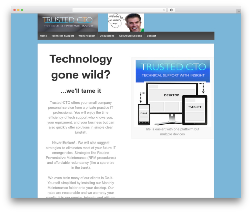 Responsive template WordPress free - trustedcto.com