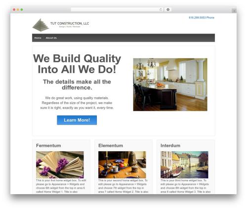 Responsive template WordPress free - tutconstruction.com