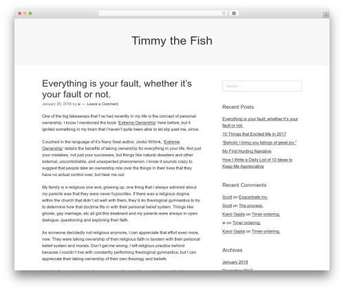 Theme WordPress Omega - timmythefish.com