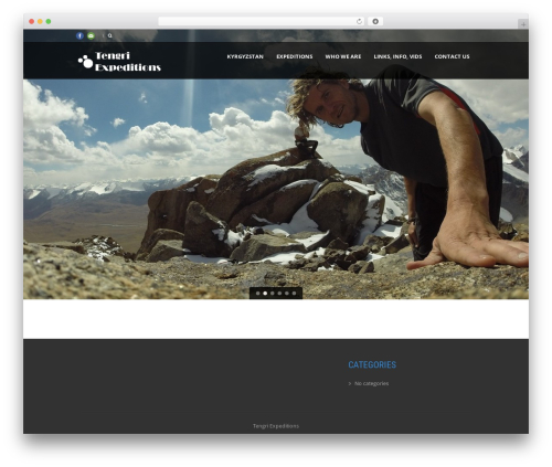Theme WordPress Tour Package - tengriexpeditions.com