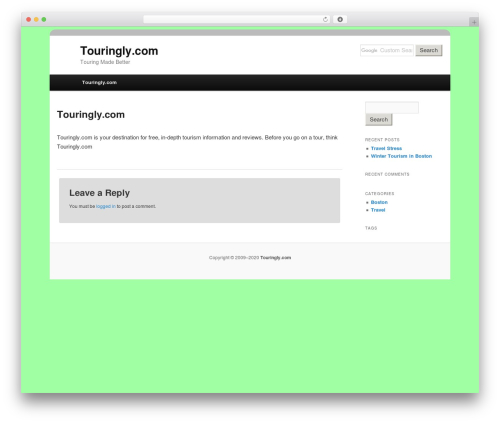 Free WordPress Twenty Eleven Theme Extensions plugin - touringly.com