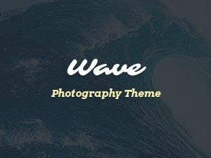 Wave photography WordPress theme