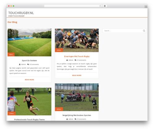 WordPress theme Eminent - touchrugby.nl