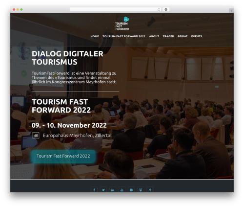 WordPress theme Eventiz - tourismfastforward.com