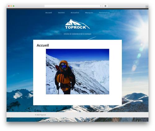 WordPress theme Perkins - toprock.fr