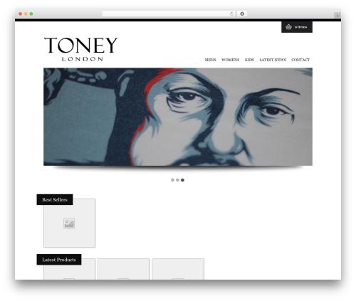 WP FlexiShop WordPress store theme - toneylondon.com